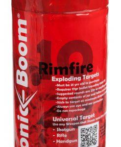 sonic boom rimfire exploding targets