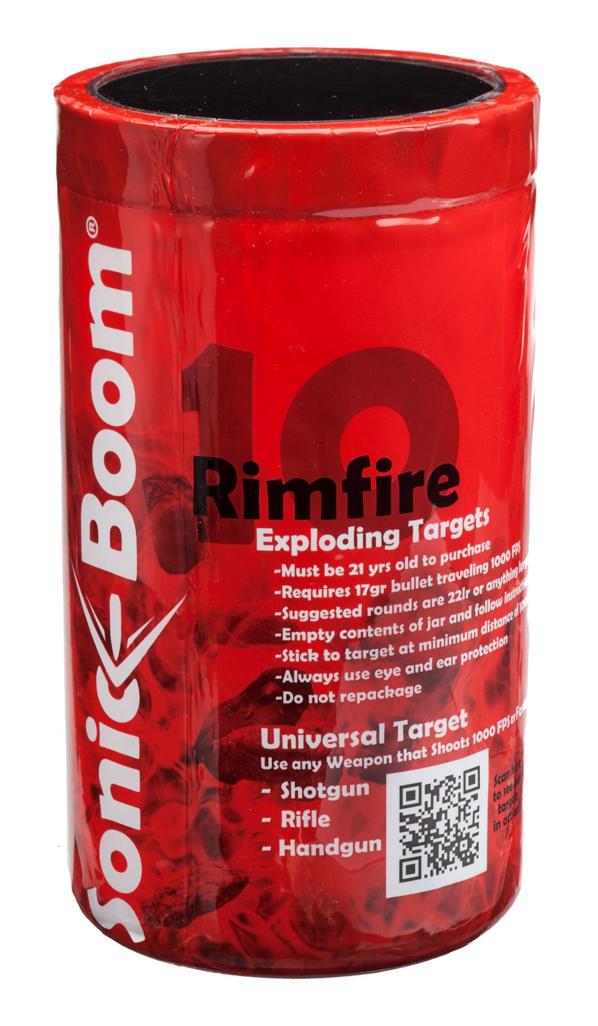 sonic boom rimfire exploding targets