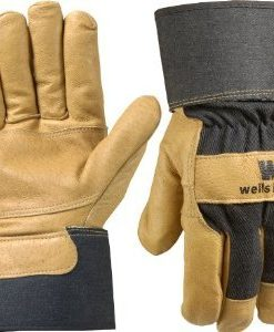 wells lamont grain pigskin leather palm gloves