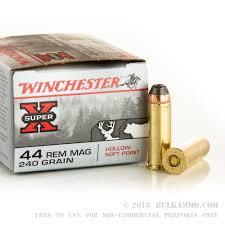 winchester super-x handgun .44 rem. magnum 240 grain hsp