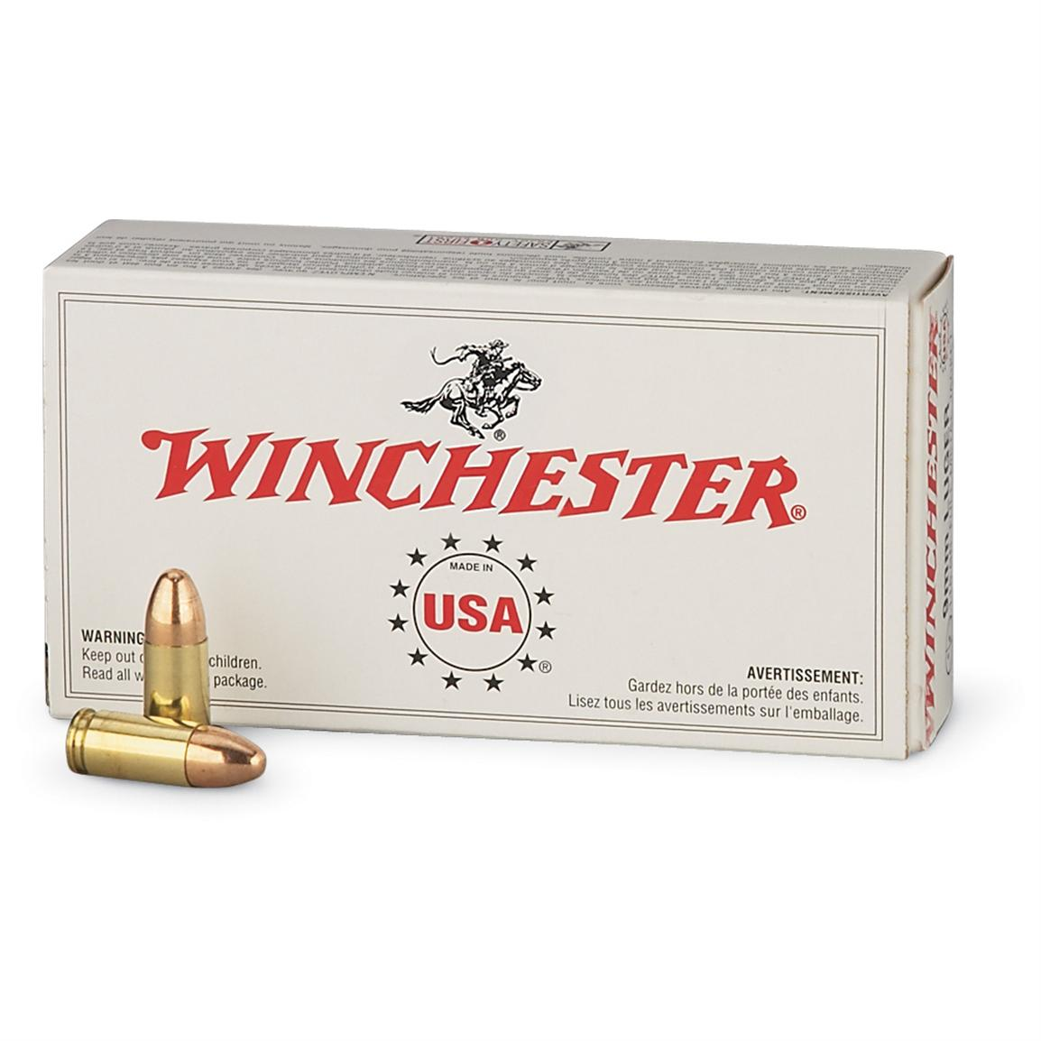 winchester usa pistol .40 s&w 180 grain fmj