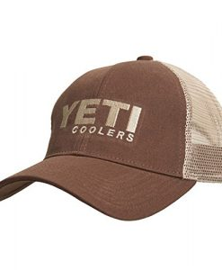 yeti traditional trucker hat brown snapback