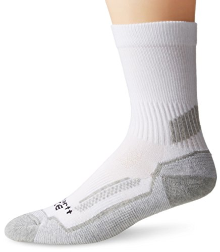 carhartt big boys' 3 pack force performance crew socks, white