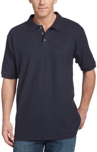 9b96b6c4 carhartt men's pique knit short sleeve polo shirt,navy