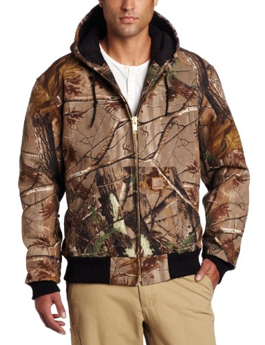 carhartt men's quilted flannel lined camo active jacket,camo