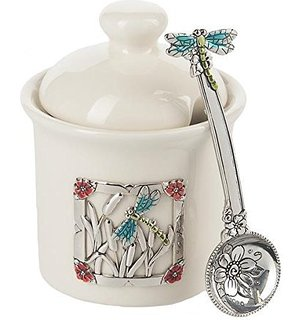 ganz condiment jar with spoon - heart