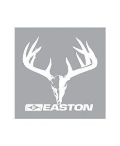 easton skull and rack white 5.5in x 4.25in decal