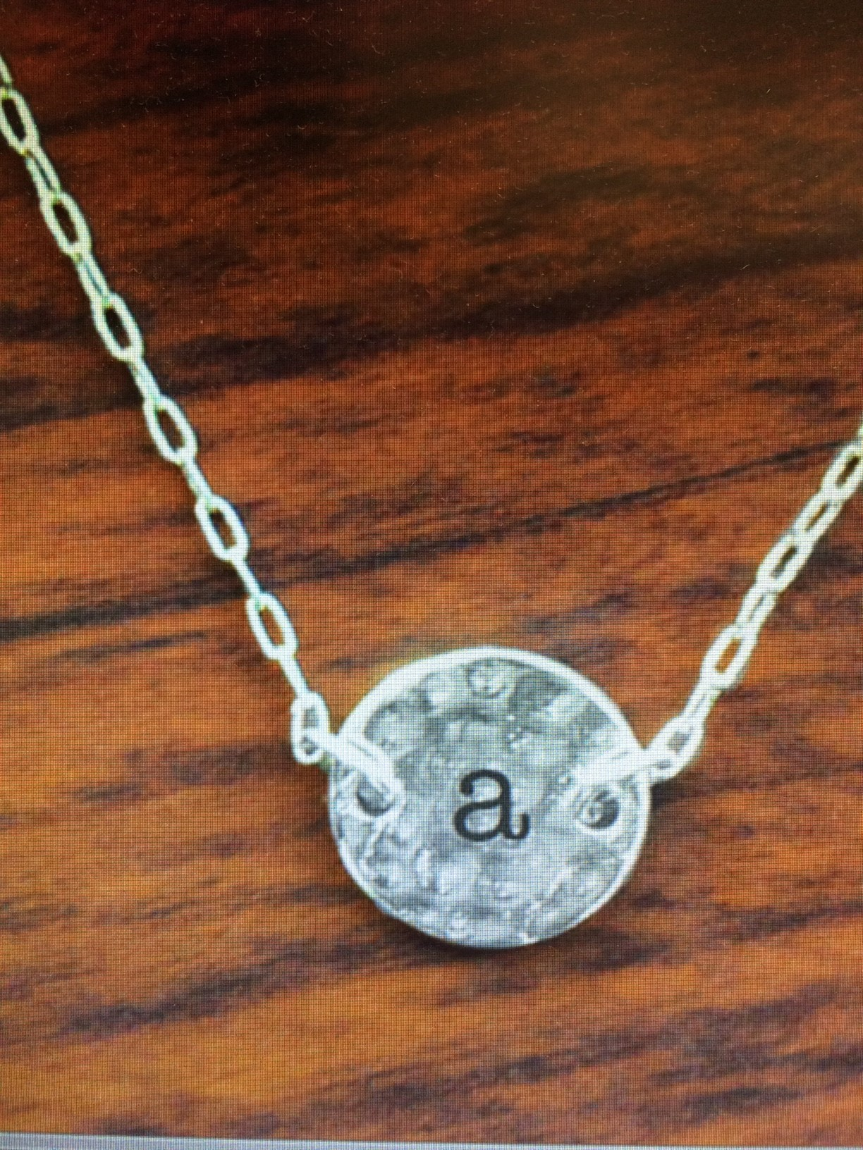 mainstreet collection monogram silver charm necklace