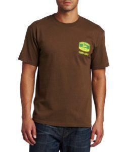 john deere men's vintage tm jersey tee, brown,