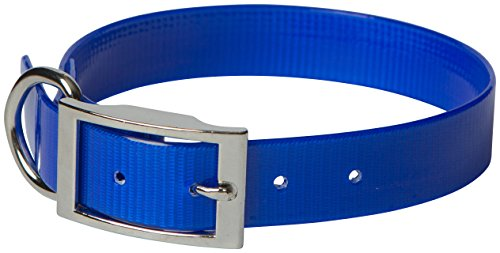 omnipet sunglo regular dog collar, blue