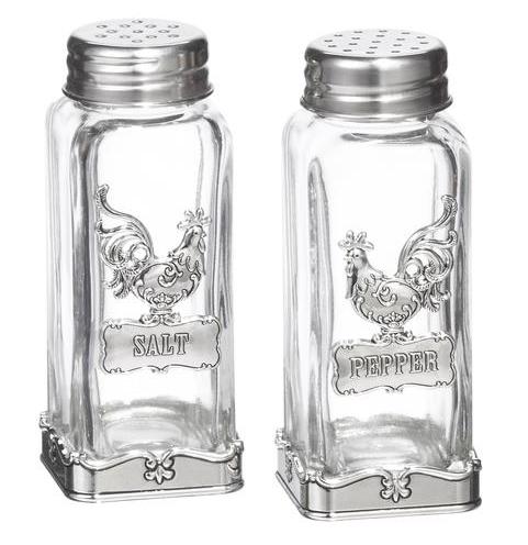 ganz rooster salt & pepper shaker