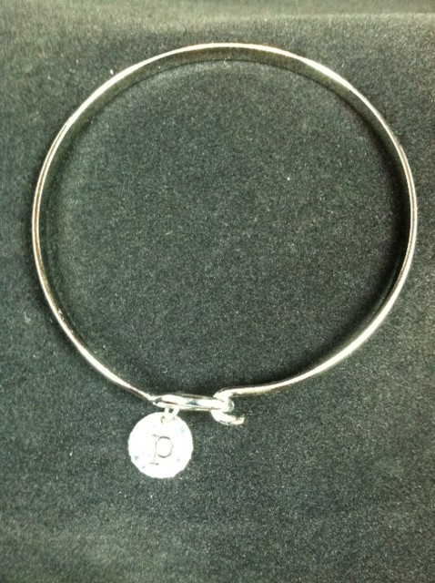 mainstreet collection silver charm letter bracelet