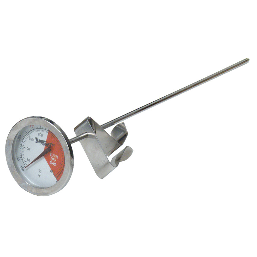 "bayou classic stainless steel 12"" thermometer"