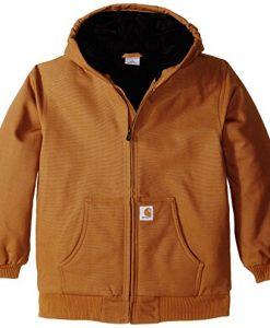 carhartt big boys' active jacket,carhartt brown