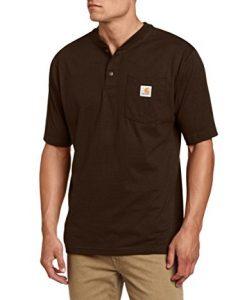 carhartt men's shortsleeve workwear henley t-shirt