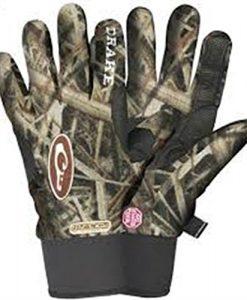 drake men's mst camo windstopper fleece glove (md, realtree max-5