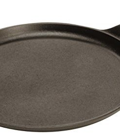 lodge pre-seasoned cast-iron round griddle, 10.5-inch