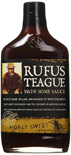 rufus teague honey sweet bbq sauce, 16 oz