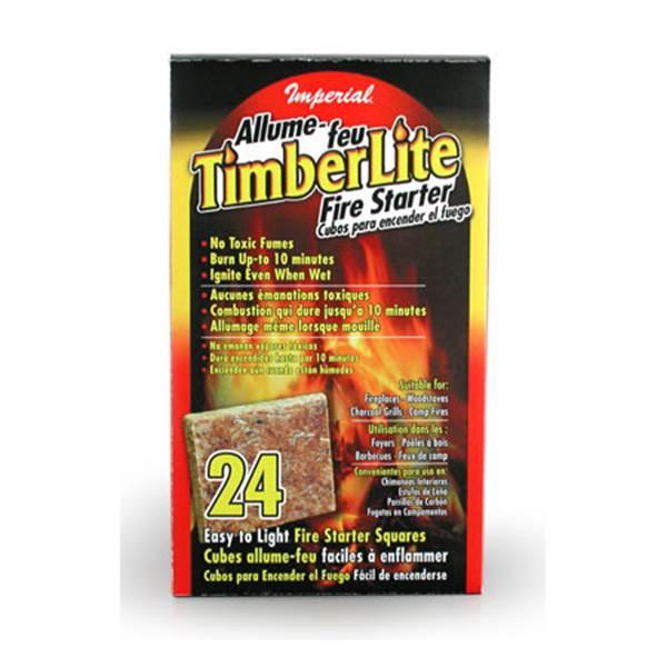 timberlite 24 pc firestarter squares
