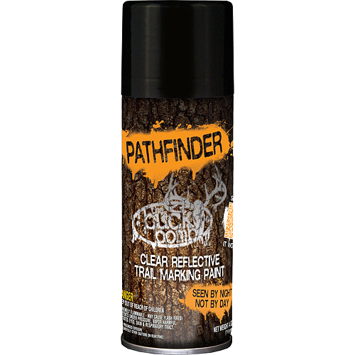 the buck bomb pathfinder clear reflective trail marking paint