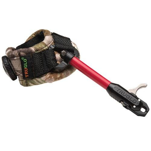 truglo speed shot xs boa release with strap, realtree ap green, adult