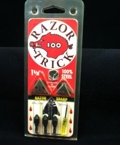 slick trick razor trick broadheads 3 pk.