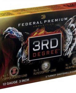 "federal premium 3rd degree12 gauge, 3"" ,1-3/4 oz, 5-6-7 shot mix"