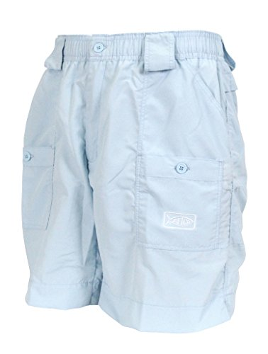 aftco bluewater m01l long traditional fishing shorts sky
