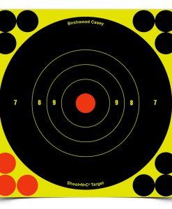 """birchwood casey shoot•n•c 6"""" bull's-eye, 12 targets"""