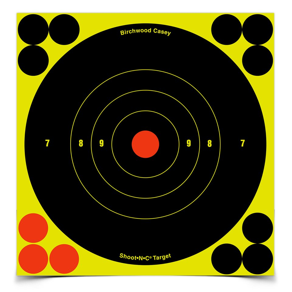 "birchwood casey shoot•n•c 6"" bull's-eye, 12 targets"