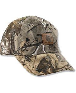 carhartt big boys' work camo duck cap, real tree brown, child