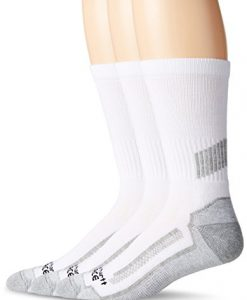 carhartt men's 3 pack force performance work crew socks, white, 10-13 sock 6-12 shoe