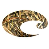 costa mossy oak camo sticker - small