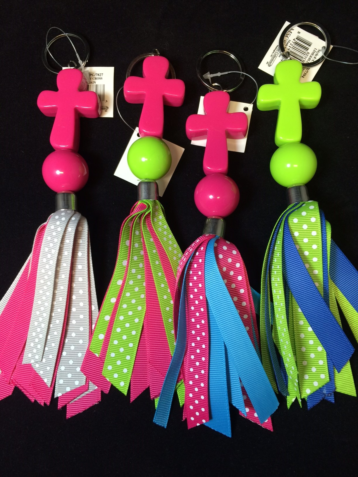 mainstreet collection cross keychain