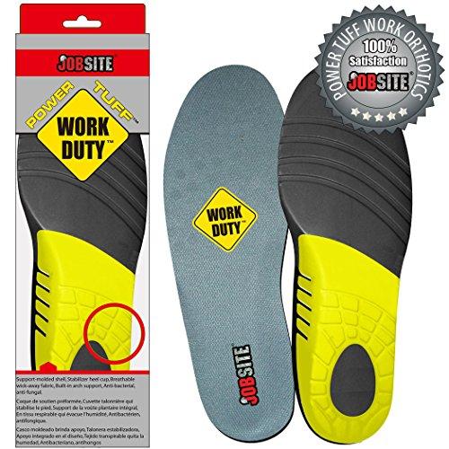 jobsite power tuff orthotic boot insoles