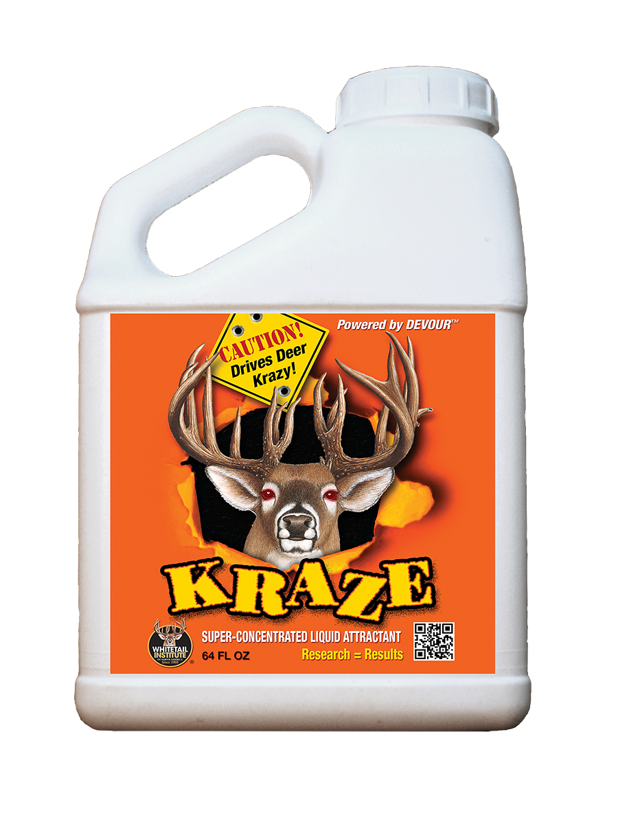 whitetail institute kraze deer attractant 64 oz.