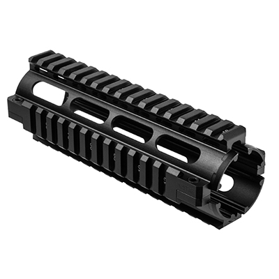 ncstar ar15 carbine length quad rail