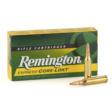remington centerfire rifle 7mm mauser 140 grain psp core-lokt 20 rounds