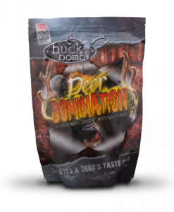 the buck bomb deer domination powdered deer attractant 3 lb.