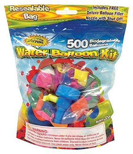 water sports water balloon refill kit, 500-pack