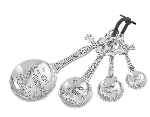 ganz measuring spoons 4 pc. set - cross