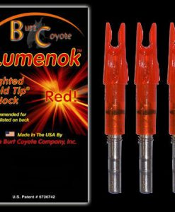 burt coyote lumenok lighted gold tip nock 3 pk.