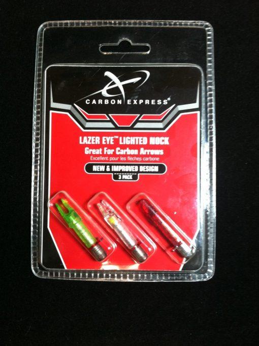 carbon express lazer eye lighted nock 3 pack