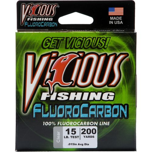 vicious fishing 15 lb./200 yd. 100% fluorocarbon spool