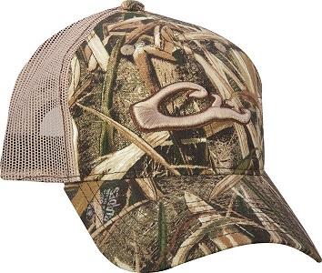 drake mesh-back raised logo camo cap