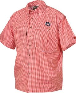 drake auburn university short sleeve gameday wingshooter's shirt