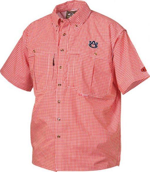 drake auburn university short sleeve gameday wingshooter's shirt