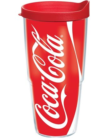tervis coca-cola - coke can 24 oz. wrap w/ lid