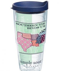 tervis simply southern- south patch 24 oz. wrap w/ lid