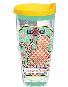 tervis simply southern - unwind in the south 24 oz. wrap w/ lid